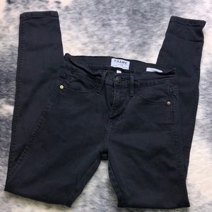 Frame Denim Le High Skinny Black Jeans 25